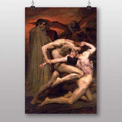 Big Box Art Dante and Virgil in Hell by William Adolphe Bouguereau Art Print