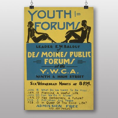 Big Box Art Youth Forum Vintage Advertisement