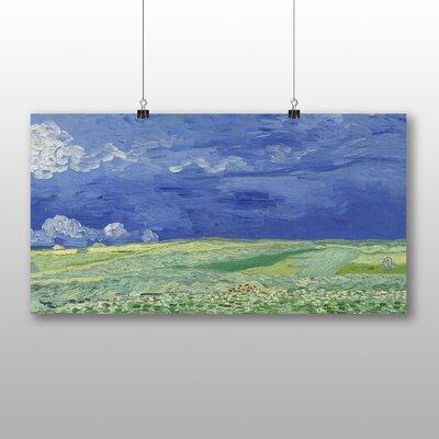 Big Box Art 'Wheatfield under Thunderclouds' by Vincent Van Gogh Art Print