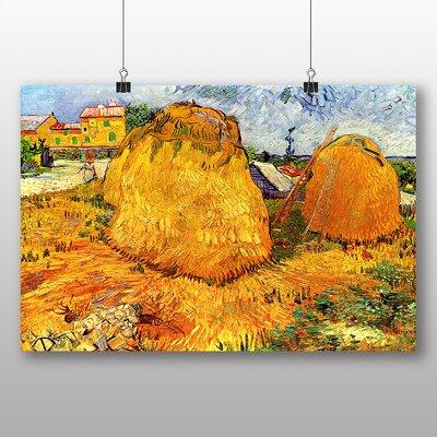 Big Box Art 'Haystacks' by Vincent Van Gogh Art Print
