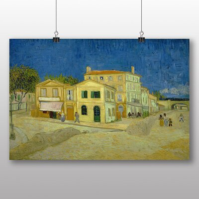 Big Box Art 'The Yellow House' by Vincent Van Gogh Art Print