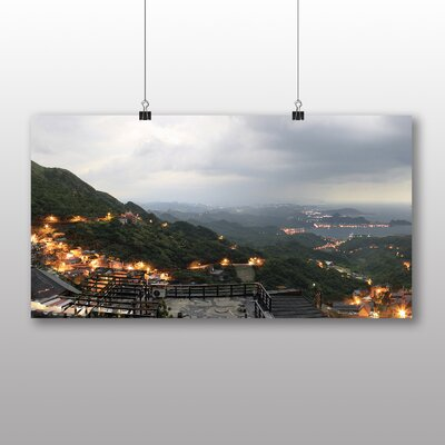 Big Box Art Taiwan Mountain Photographic Print Wrapped on Canvas