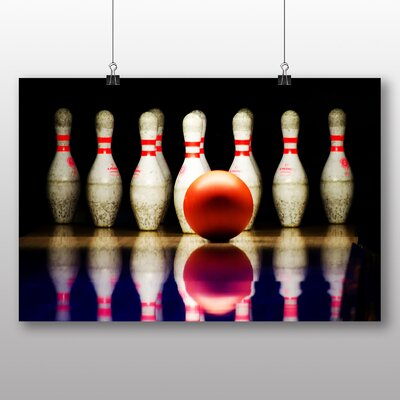Big Box Art Ten Pin Bowling Photographic Print Wrapped on Canvas