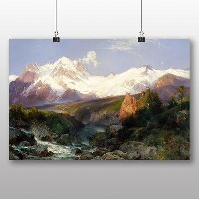 Big Box Art 'Teton Range' by Thomas Moran Art Print