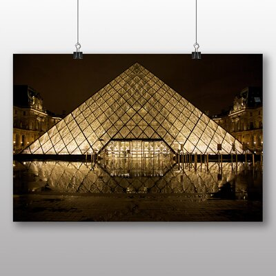 Big Box Art The Louvre Pyramid Paris France Photographic Print on Canvas
