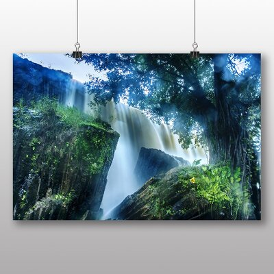 Big Box Art Waterfall No.9 Photographic Print Wrapped on Canvas