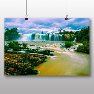 Big Box Art Waterfall No.7 Graphic Art Wrapped on Canvas