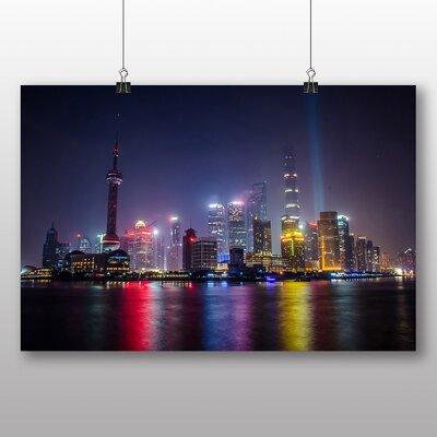 Big Box Art Shanghai China Skyline No.5 Photographic Print on Canvas