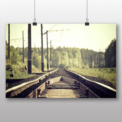 Big Box Art 'Train Track View' Photographic Print