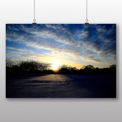 Big Box Art Winter Sunrise Photographic Print on Canvas