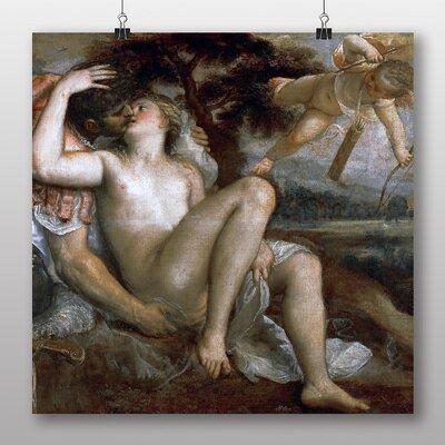 Big Box Art 'Titian Mars Venus and Amor' by Titian Mars Art Print