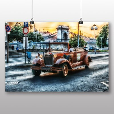 Big Box Art Vintage Classic Car No.3 Photographic Print Wrapped on Canvas