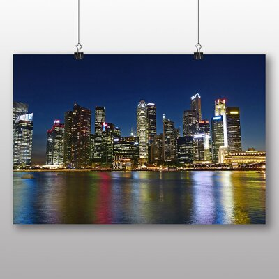 Big Box Art Singapore Skyline No.1 Photographic Print Wrapped on Canvas