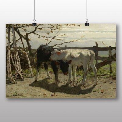 Big Box Art 'Calves' by Willem Maris Art Print
