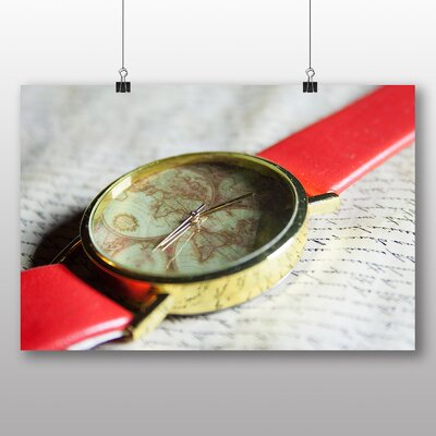 Big Box Art Wrist Watch and Map Photographic Print