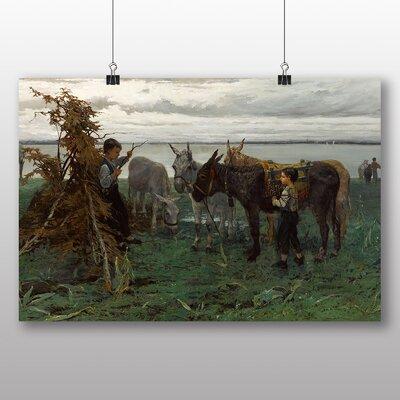 Big Box Art 'Boys Herding Donkeys' by Willem Maris Art Print