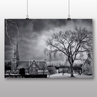 Big Box Art Thunder Lightening Storm No.5 Photographic Print Wrapped on Canvas