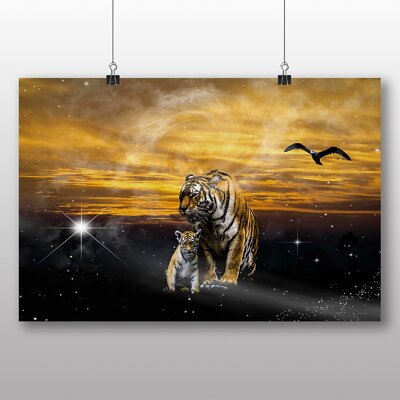 Big Box Art Tigers No.3 Photographic Print Wrapped on Canvas