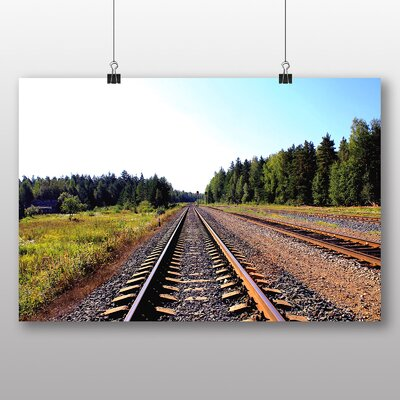 Big Box Art 'Train Tracks to the Trees' Photographic Print