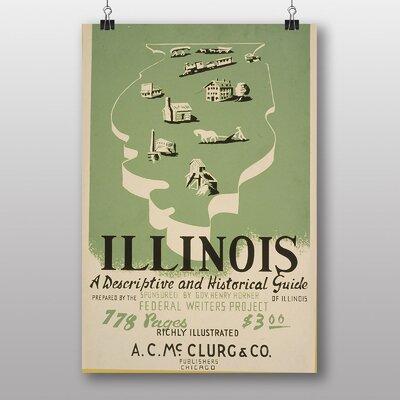 Big Box Art Visit Illinois Vintage Advertisement