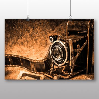 Big Box Art Vintage Retro Camera No.11 Photographic Print Wrapped on Canvas