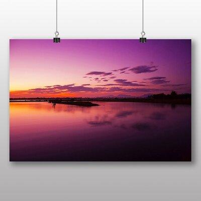 Big Box Art Violet Sunrise Photographic Print on Canvas