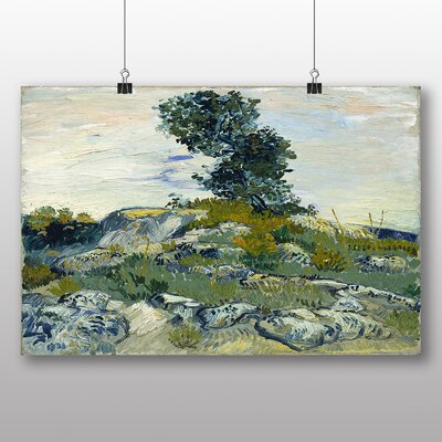 Big Box Art 'The Rocks' by Vincent Van Gogh Art Print