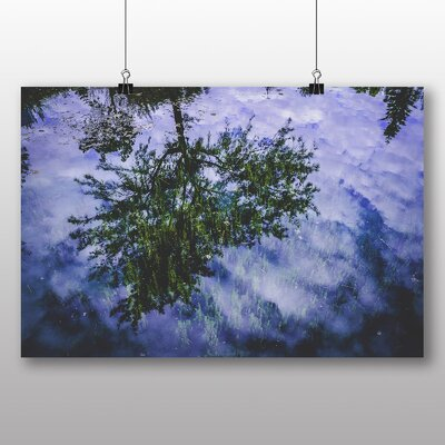 Big Box Art Tree Reflection Graphic Art Wrapped on Canvas