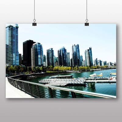 Big Box Art Vancouver Skyline City Canada No.6 Photographic Print on Canvas