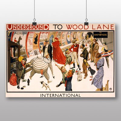 Big Box Art Underground to Lane Vintage Advertisement