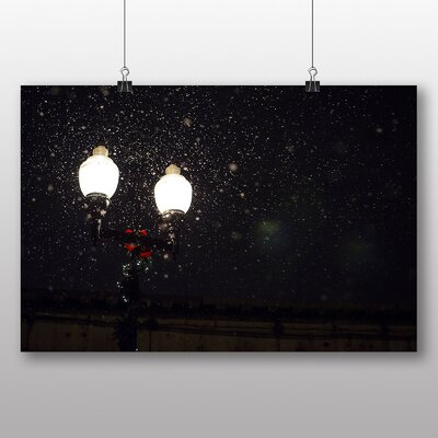 Big Box Art 'Street Lights in the Snow' Photographic Print