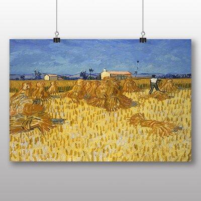 Big Box Art 'Corn Harvest in Province' by Vincent Van Gogh Art Print