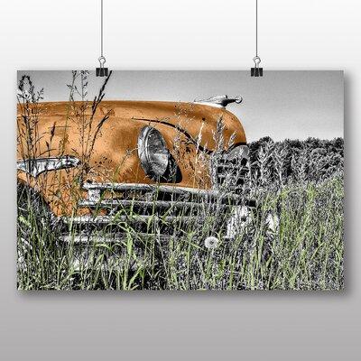 Big Box Art Vintage Classic Car Rusted No.4 Photographic Print