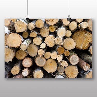 Big Box Art Wood Logs Photographic Print on Canvas