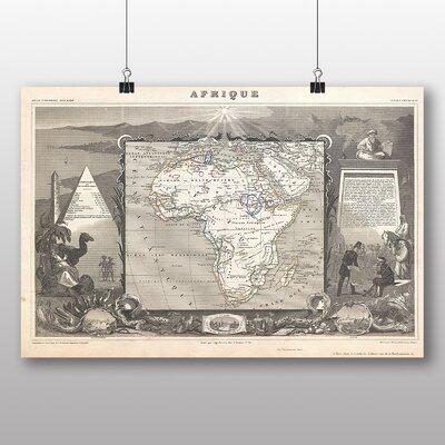 Big Box Art 'Vintage Map of Africa' Graphic Art