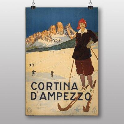 Big Box Art Cortina D Amprezzo Vintage Advertisement