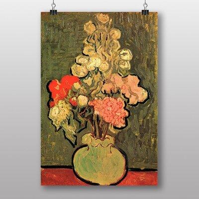 Big Box Art Still Life with Rose Mallows by Vincent Van Gogh Art Print