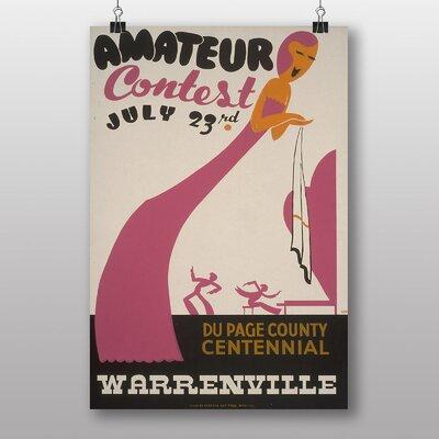 Big Box Art Amateur Contest Vintage Advertisement