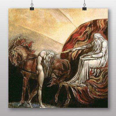 Big Box Art 'God Judging Adam' by William Blake Art Print