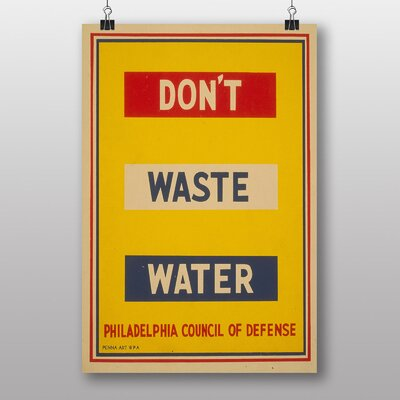 Big Box Art Dont Waste Water No.4 Typography
