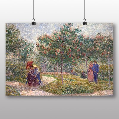 Big Box Art 'Garden with Courting Couples' by Vincent Van Gogh Art Print