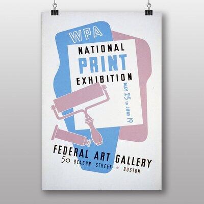 Big Box Art Exhibition No.19 Vintage Advertisement