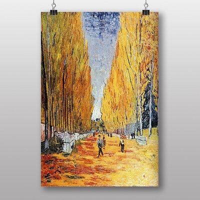 "Big Box Art ""Tree Lined Path"" by Vincent Van Gogh Art Print"