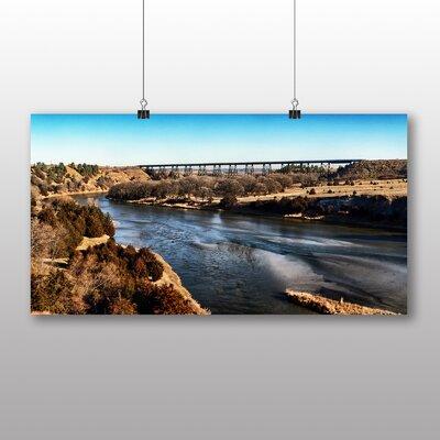 Big Box Art Valentine Nebraska River USA Photographic Print on Canvas