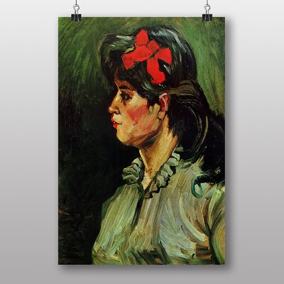 Big Box Art Woman with a Ribbon by Vincent Van Gogh Art Print