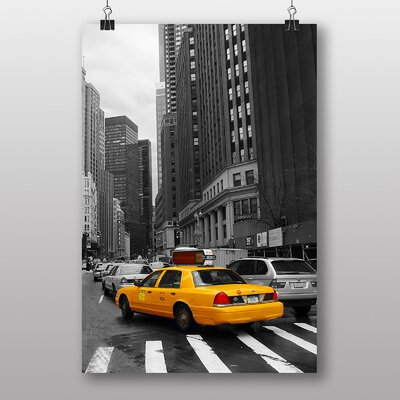 Big Box Art Yellow Taxi Cab New York City Photographic Print