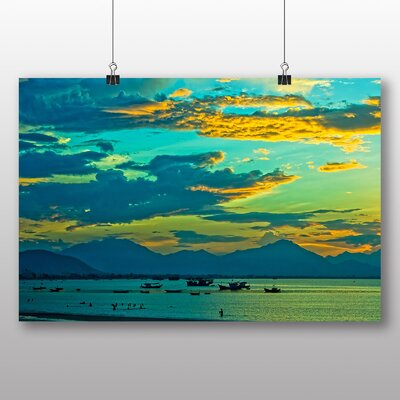 Big Box Art Sunset No.6 Photographic Print Wrapped on Canvas