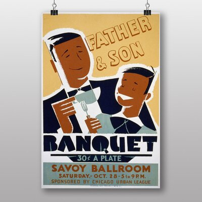 Big Box Art father and Son Banquet Vintage Advertisement