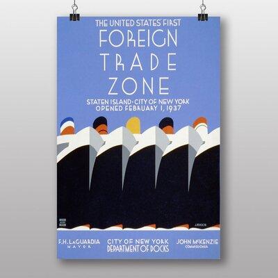 Big Box Art Foreign Trade Zone No.3 Vintage Advertisement