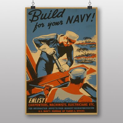 Big Box Art Build For Your Navy No.2 Vintage Advertisement